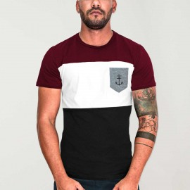 T-shirt Herren Schwarz Patch Special Pocket