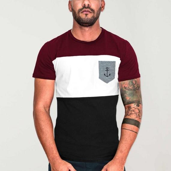 Men T-Shirt Black Patch Special Pocket
