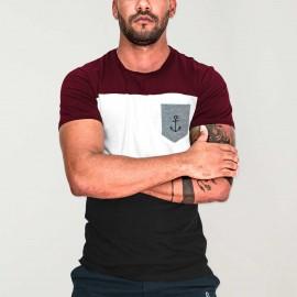 T-shirt Homme Noir Patch Special Pocket