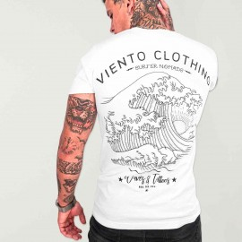 Men T-Shirt White Japan Tide