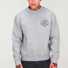 Men Sweatshirt Gray Japan Tide
