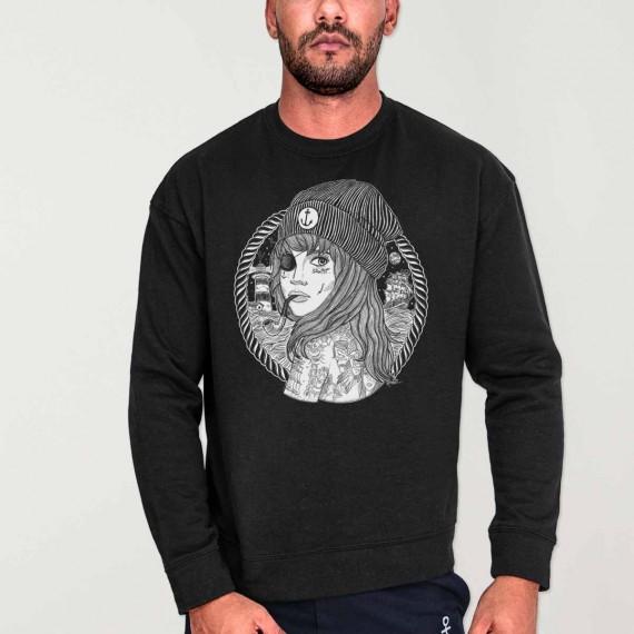 Sweatshirt de Hombre Negra Beauty Captain