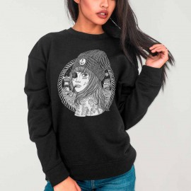 Sweatshirt de Mujer Negra Beauty Captain