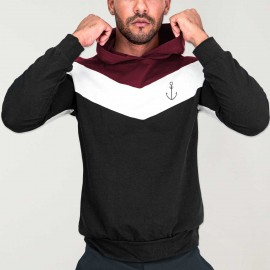 Sudadera de Hombre Negra Patch Flash Anchor Simple