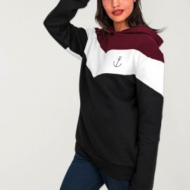 Sudadera de Mujer Negra Patch Flash Anchor Simple
