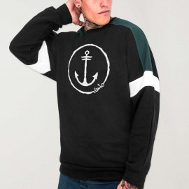 Sweat Homme Noir Patch Shadows Anchor Logo