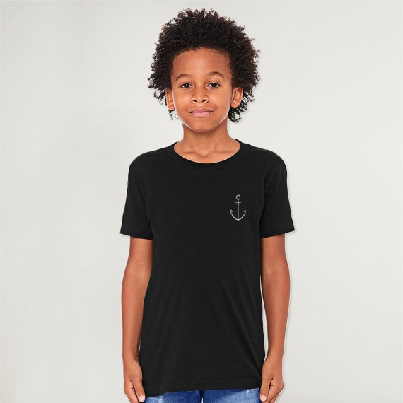 Camiseta de Niño Negro Anchor Simple