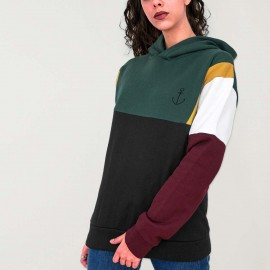Sudadera de Mujer Negra Patch Suburbs Anchor Simple