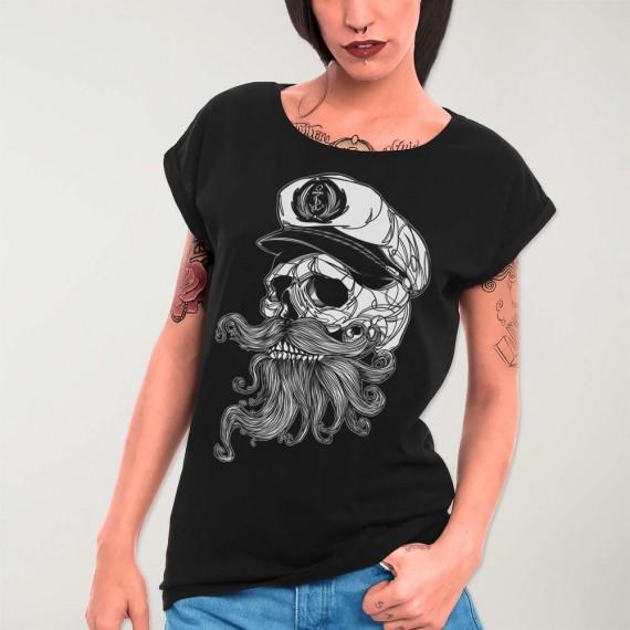 Camiseta de Mujer Negra Skull Mattketmo