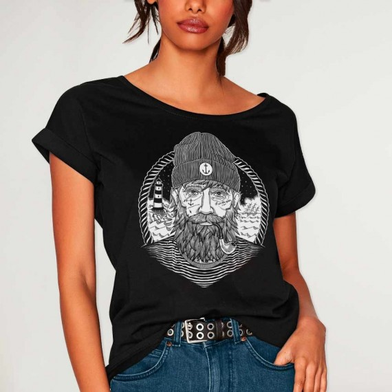 T-shirt Women Black Dark Captain