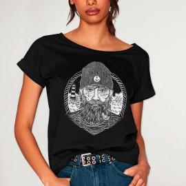 T-shirt Damen Schwarz Dark Captain