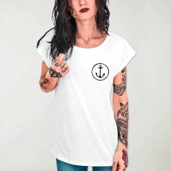 Camiseta de Mujer Blanca Viento Team