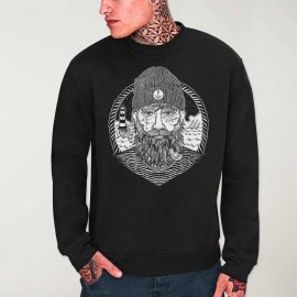 Sweatshirt Men Black Dark Captain