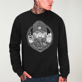Sweatshirt Men Black Dark Captain