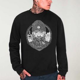 Sweatshirt Hombre Negra Dark Captain