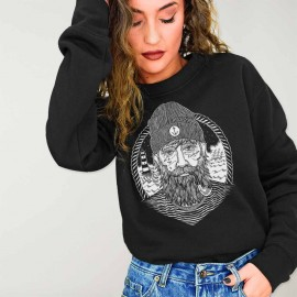 Sweatshirt Damen Schwarz Dark Captain