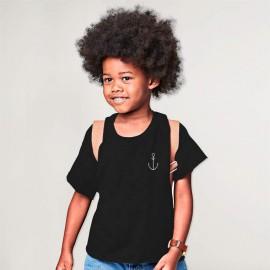 Boy T-shirt Black Anchor Simple