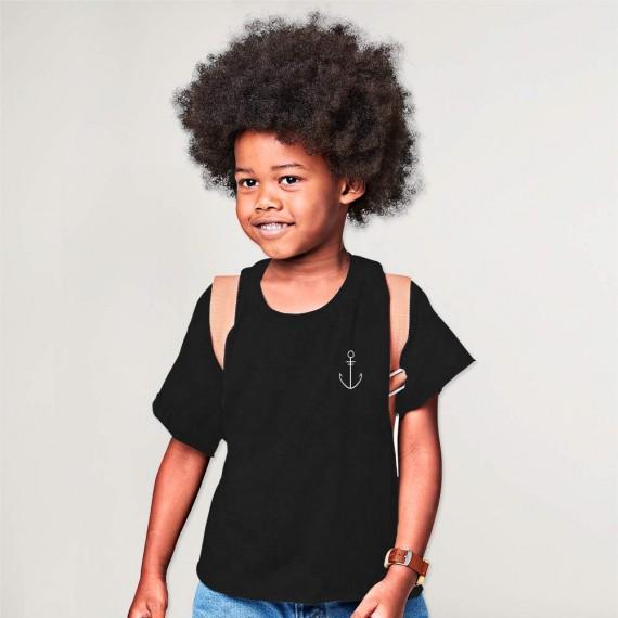 Camiseta de Niño Negro Anchor Simple