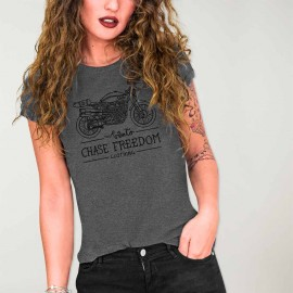 Women T-Shirt Dark Gray Race Free