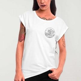 Maglietta Donna Bianca Japan Tide