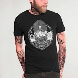 T-shirt Herren Schwarz Dark Captain