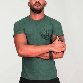 Camiseta de Hombre Verde Drifter