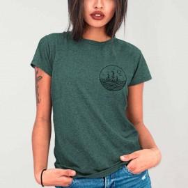 Women T-Shirt Green Drifter