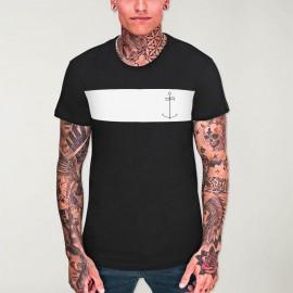 Men T-Shirt Black Patch Storm Dream Anchor
