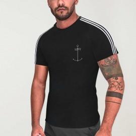 Camiseta de Hombre Negra Nature Dream Anchor