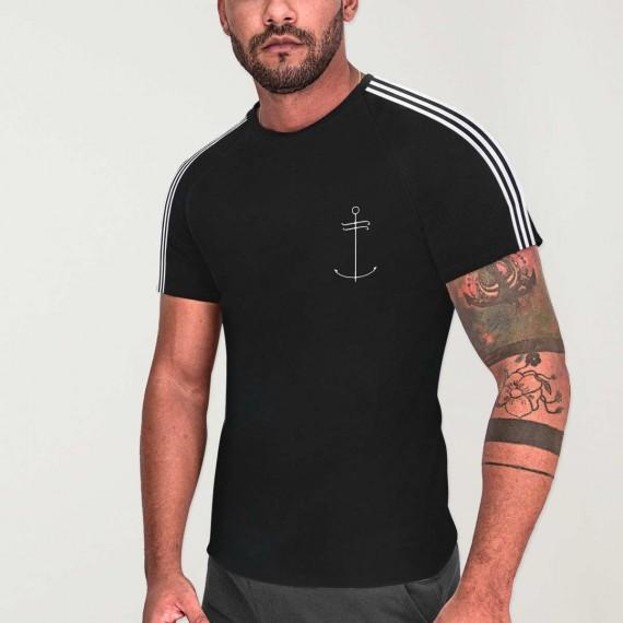 T-shirt Homme Noir Nature Dream Anchor