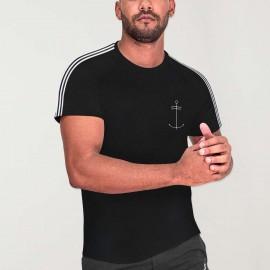 Men T-Shirt Black Nature Dream Anchor