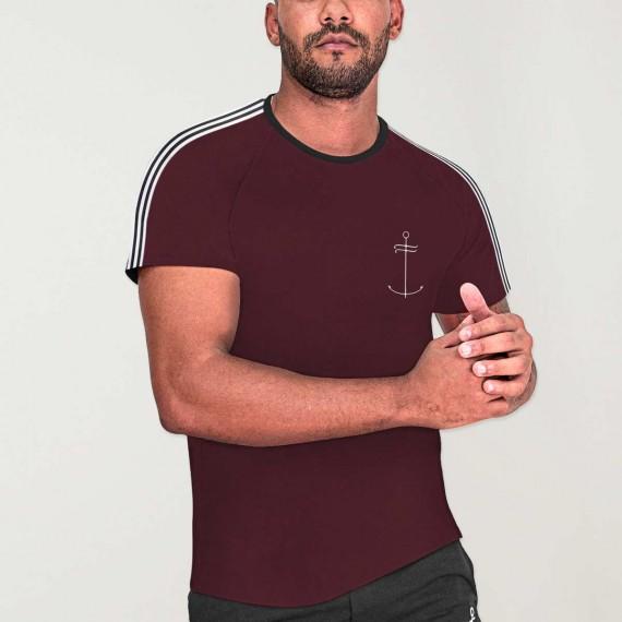 T-shirt Homme Bordeaux Nature Dream Anchor