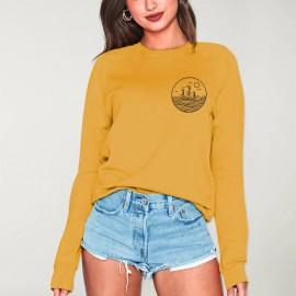 Sweatshirt Damen Senf Drifter