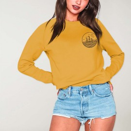 Women Sweatshirt Mustard Drifter