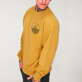 Men Sweatshirt Mustard Drifter