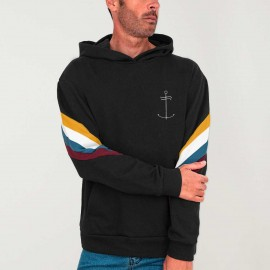 Men Hoodie Black Rush Dream Anchor