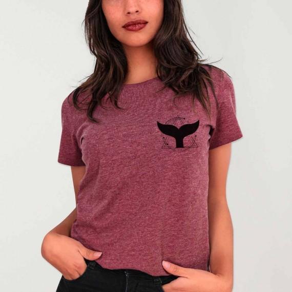 T-shirt Femme Bordeaux Whale Tail