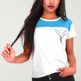 Camiseta de Mujer Bicolor Blanca Eco Mermaid