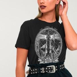 T-shirt Unisexe Noir Night Lighthouse SALES!!!
