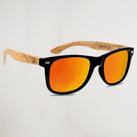 Hybrid Orange Forest Wooden Sunglasses