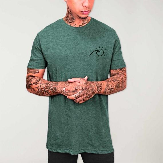 Men T-Shirt Green Perfect Day