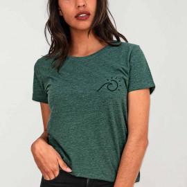 T-shirt Femme Vert Perfect Day