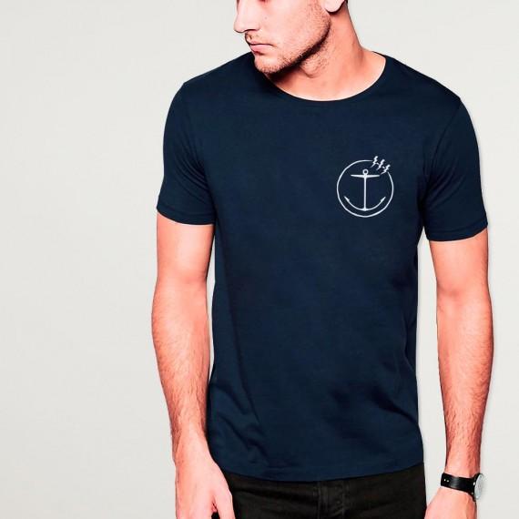 Men T-Shirt Navy Free Sail