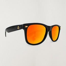 Premium Deluxe Black Lunettes de soleil Orange