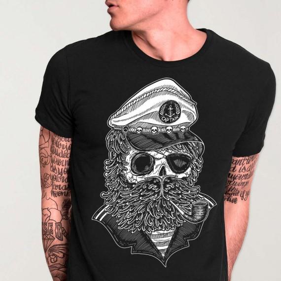 Men T-Shirt Black Walking Dead Sailor