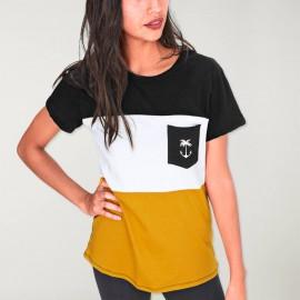 T-shirt Unisex Schwarz Patch Pocket Tropical Anchor SALES!!!