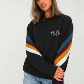Sweatshirt Damen Schwarz Patch Rush Flying Golondrine