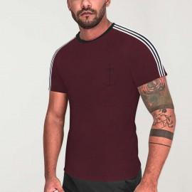 Men T-Shirt Burgundy Nature Dream Anchor