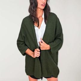Women Cardigan Khaki Minimal