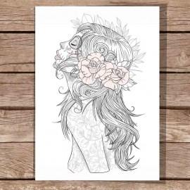 Illustration Weiß Katrina